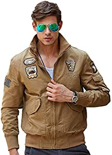 H.T.Niao Imported Jacket for Men Winter Camouflage Military Design Army Style Cotton Casual Slim Fit Stand Collar Coat Latest Fashion (8203 Khaki)