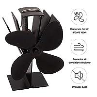 Xingsiyue 熱エネルギー 暖炉ファン 静かで効率的な ストーブファン 増やすことができます ログ/ウッドバーナー 熱風