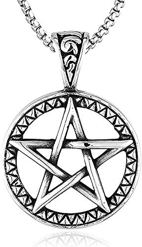 LKLFC Collar Collar de Acero Inoxidable con Colgante de dragón Dorado Collar de Punk Rock Joyería para Hombre Colgante Regalos