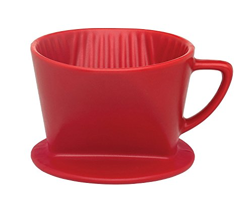 HIC Filter Cone, Matte Red, Number 2-Size Filter, Brews 2 to 6-Cups