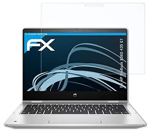 atFolix Schutzfolie kompatibel mit HP ProBook X360 435 G7 Folie, ultraklare FX Bildschirmschutzfolie (2X)