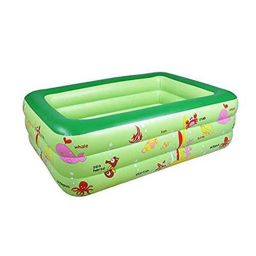 FDYZS Piscina de Remo Inflable y Burbuja Extra Suave para niños, Piscina de Juego de Salpicaduras para Interiores/Exteriores,Verde