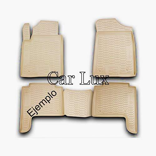 Car Lux AR02362 - Alfombrillas Alfombras de goma a medida color beige tipo cubeta 3D Land Cruiser 150