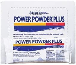 Leslie's Power Powder Shock Superchlorinator for Swimming Pools 1 LB [Pack of 12]
