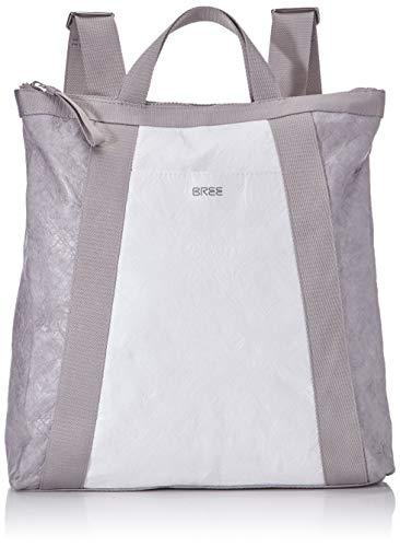 BREE Collection Unisex-Erwachsene Vary 5, Backpack S20 Rucksack, Grau (Grey/White), 8x34x36 cm