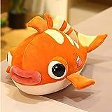 Bonito juguete de peluche de peces tropicales de dibujos animados, animales marinos realistas, muñecos de peluche, boca grande, pez de acuario, almohada, juguetes blandos, regalos para niños, 45 cm A