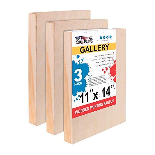 Art Alternatives Wood Panel Super Value Gallery,10x10,Natural,Pack of 4
