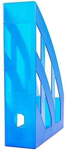 Idena 300886 - Stehsammler für DIN A4, aus Kunststoff, transluzent royalblau, 1 Stück