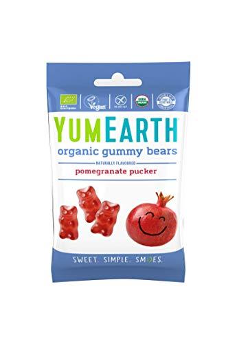 YumEarth - Pack de 6 bolsitas de 50g de ositos orgánicos sabor granada