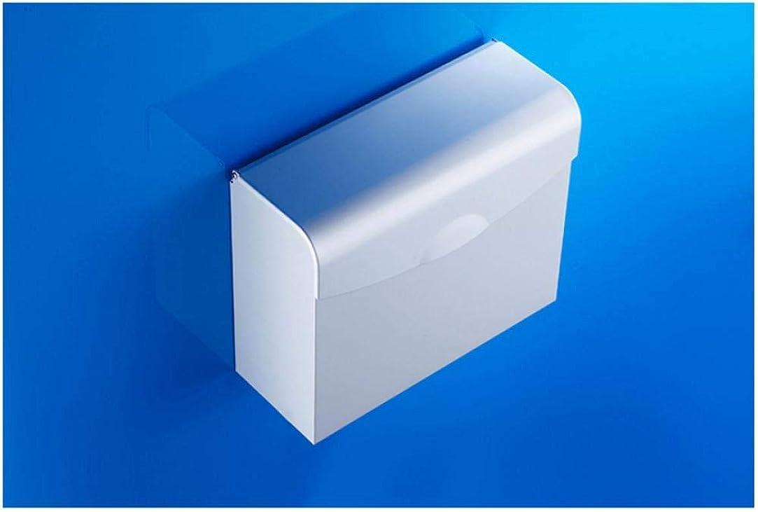 保証金フェードあごひげZJN-JN ティッシュホルダー 浴室用 カバーロールディスペンサー浴室防水ティッシュボックスロールティッシュホルダー付きスペースアルミメールボックスタイプトイレットペーパーホルダーケース