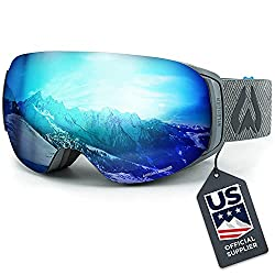 349409e44a58 WildHorn Outfitters Roca Ski Goggles are high-quality but affordable  frameless goggles with interchangeable magnetic lenses