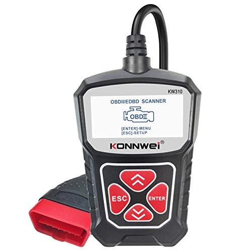 CARACHOME OBD2 Diagnosegerät, OBD 2-Autoscanner-Diagnosewerkzeug Kfz-Scanner Autowerkzeuge Auto-Fehlercodedetektor für Motorbatterietest
