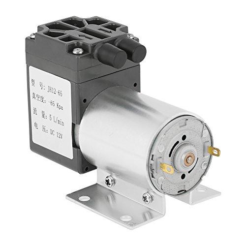 Delaman Vakuumpumpe Wasserpumpe 12V - DC 12V 5L / min 120kpa Unterdruck-Mini-Vakuumpumpe mit Halter