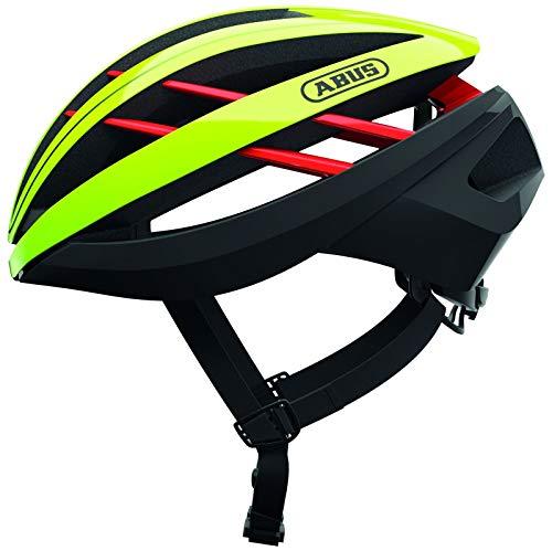 ABUS Aventor Rennradhelm - Sehr gut belüfteter Fahrradhelm für professionellen Radsport für Damen und Herren - 77611 - Gelb, Größe L