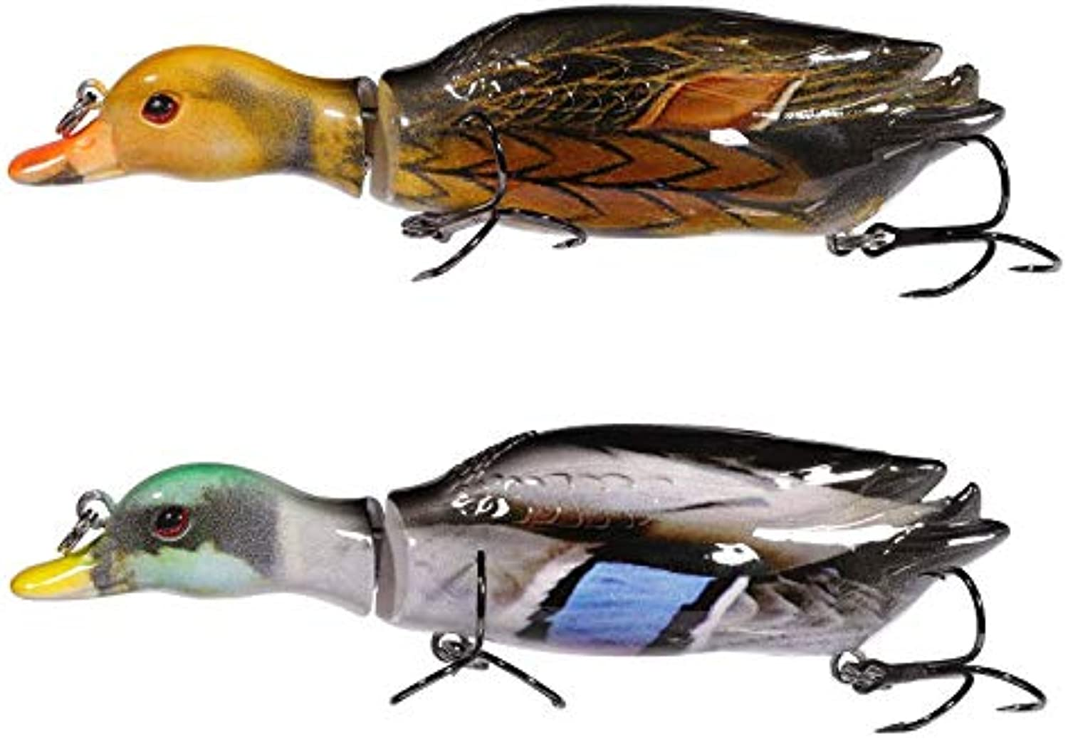Generic Lurequeen 12cm 26g Floating Duck Fishing Lure Crankbait Jointed Baits Swim baits Topwater Wobbler Fishing Tackle Leurre Isca J2B0204Z