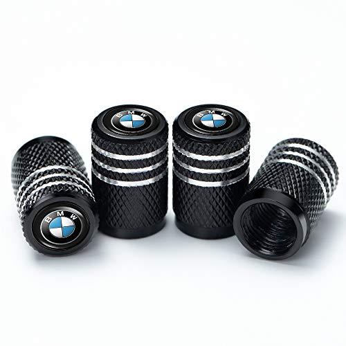 PATWAY 4 Pcs Metal Car Wheel Tire Valve Stem Caps for BMW X1 X3 M3 M5 X1 X5 X6 Z4 3 5 7SeriesLogo Styling Decoration Accessories.