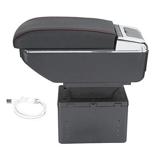 Aramox Scatola per braccioli, Contenitore Universale per consolle per braccioli Contenitore Contenitore Regolabile con interfaccia USB