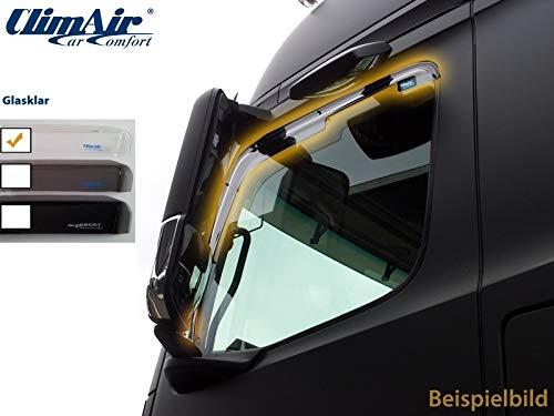 ClimAir LKW Windabweiser für Fahrer- und Beifahrertür -CLK0046071K (Farbe: glasklar)