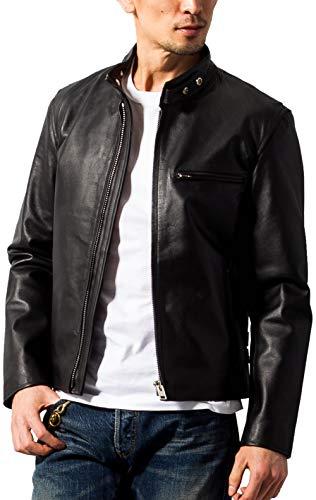 (ホーンワークス) Horn Works 本革 シングルライダースジャケット メンズ 4762 XSサイズ ブラック