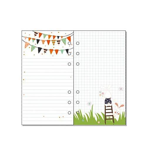 A5 páginas recargables, 6 agujeros, cuaderno de recarga de colores, organizador personal ejecutivo para escribir su plan diario/semanal/mensual (40 páginas de inserción, paquete de 2)