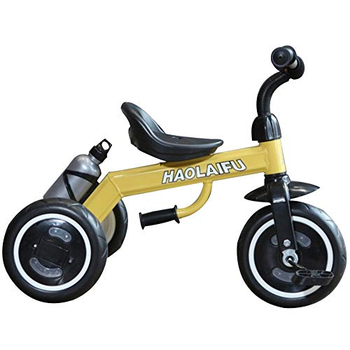 AJH Dreirad beweglicher Standplatz 1~8 Kinder Tricycle Pedale Von Tricycles Tricycles für Kinder Kinder Kinder Landau,Gelb