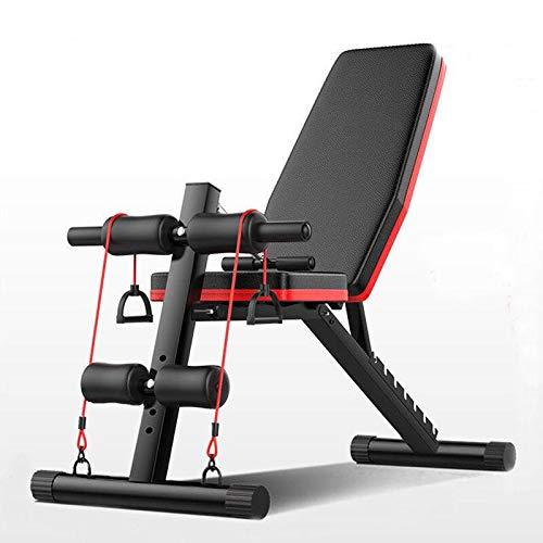 Banco de Pesas Ajustable para Fitness, Bancp de pesas,Banco de musculacion para Entrenamiento de Cuerpo Entero (T-F)