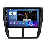 Estéreo para automóvil para Subaru Forester 3 2007-2013 Radio Navegación GPS Android 10.0 DSP Carplay 10.1 Pulgadas IPS Pantalla táctil BT 4G WiFi SWC con cámara de Respaldo