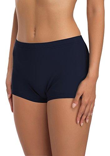 Merry Style Costume a Pantaloncino Nuoto Donna L23L1 (Blu Scuro (6219), EU 34 (IT 40))