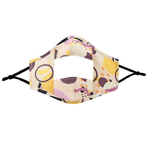 ZWXIN 3PC Baumwolle Nasenschutz für Damen Herren,Anti-Staub Bandana Halstuch Transparente Visualisierung Gesichtsschutz,Laufen,Waschbar Nasen und Lippen Schutz Bedeckung
