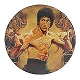 Bruce Lee Naruto Uchiha Itachi - Imanes de nevera de cristal - Juego de imanes de nevera de cristal para pizarra, imanes decorativos para niñas y niños (redondos/30 mm)