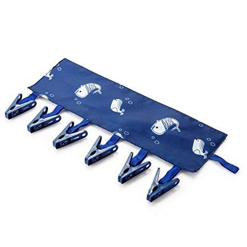 WZY いいえバッグを吊るすストレージ乾燥衣類下着クリップハンギング家庭用ポータブルマルチファンクションファブリックハンガー折りたたみ浴室ラック(花) (Color : Whale)