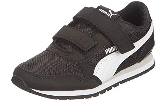 PUMA ST Runner v2 Mesh V PS, Scarpe da Ginnastica Unisex-Bambini, Nero Black White-Gray Violet, 35 EU