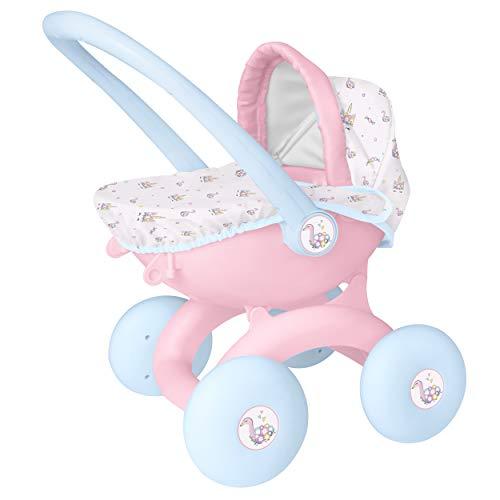 HTI, Toys Games BabyBoo 4 en 1 My First Pram - Cochecito de bebé para niños, ideal para niñas de 3 años, color rosa