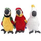 mingmi 3 Unids / Set 30 Cm Simulación De Felpa Loro Pájaro Muñeco De Peluche Niños Juguete Decoración Simulación Juguete De Felpa Regalo De Fiesta De Navidad