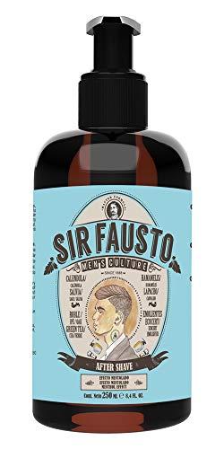 Sir Fausto After Shave Bálsamo para Después del Afeitado-Enriquecido con Caléndula & Té Verde - Efecto Mentolado- 250 ml
