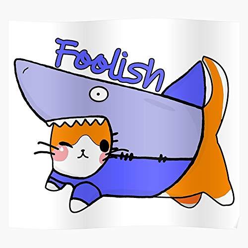 Gimp Cute Shark Creator Creation Cat Designer Instagram Das eindrucksvollste und stilvollste Poster für Innendekoration, das derzeit erhältlich ist