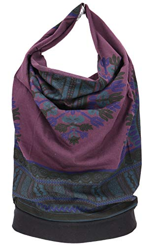 Guru-Shop Goa Top, Dashiki Psytrance Neckholder Top, Damen, Plum, Baumwolle, Size:M/L (38/40), Tops & T-Shirts Alternative Bekleidung