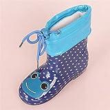 nikec Primavera Otoño Botas de lluvia Niños Felpa Calentar Tobillo Botas Niño Bebé Niños Niños PVC Zapatos impermeables