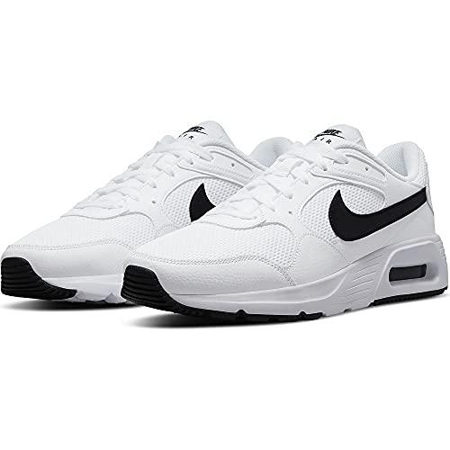 Nike Air MAX SC, Zapatillas Hombre, Blanco, Negro y Blanco, 45 EU