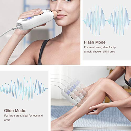 IPLBAI At-Home IPL Hair Removal for Women and Men Permanent Painless Hair Remover Device on Armpits Legs Arms Facial Bikini line, Perpetual Cartridge