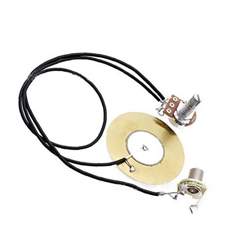 27mm Guitarra Pastilla Piezoeléctrica del Transductor Precableado Amplificador con 6.35mm Jack De Salida De La Guitarra Acústica De La Guitarra Y Ukulele Instrumentos Musicales