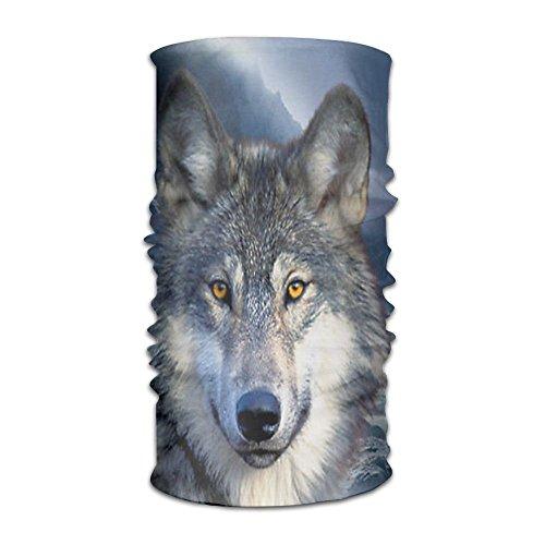 Pañuelo para la cabeza de lobo y luna, para deportes al aire libre, multifunción, bufanda mágica, polaina, envoltura de mano, pasamontañas para cuello para resistencia a los rayos UV