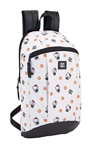 Hello Kitty 2018 Mochila Tipo Casual, 39 cm, 8.5 litros, Polka Dots Blanco