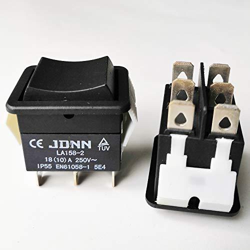 2Pcs JDNN Wasserdichte Doppel Wippschalter Elektrische Hoist Drucktastenschalter für Kran LA158-2 250V 10A 6Pins