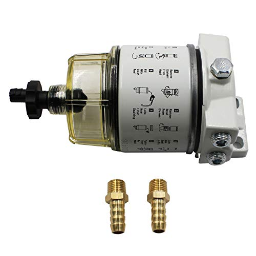 R12T Fuel Filter Water Separator 120AT NPT ZG1/4-19 with Fitting For Boat Marine Spin-on Complete Combo Filter Diesel Engine