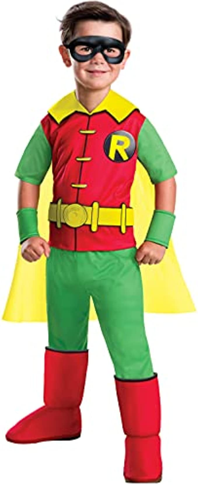 Rubie's Costume Boys DC Comics Deluxe Robin Costume, Medium, Multicolor