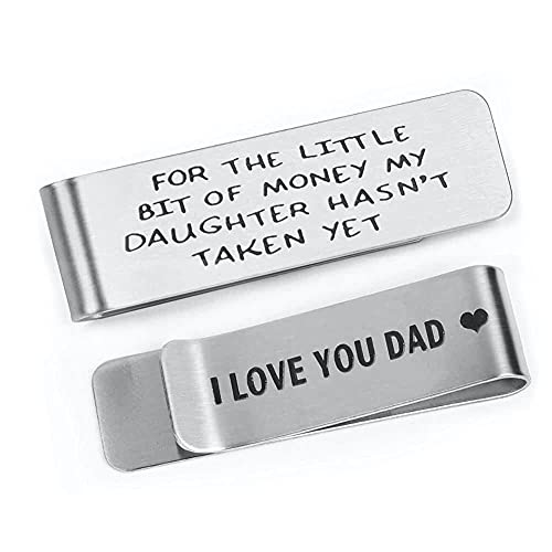 Money Clip for Men, Father's Day Gifts from Daughter, Metal Money Clip...
