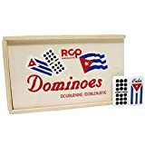 Cuban Flag Double Nines Dominoes Set Wood Box ,Set of 55 Double Nine (in Box)