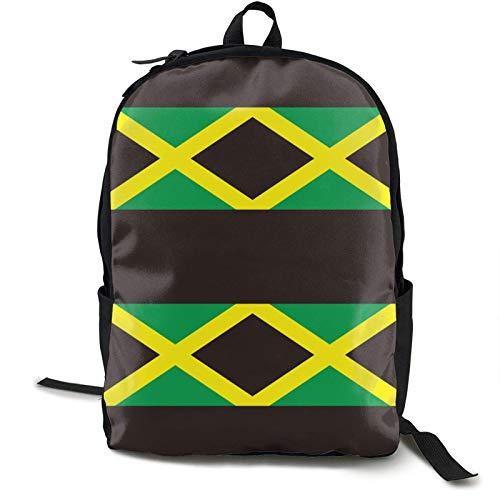 XCNGG Unisex School College-Studenten Büchertasche Mode Mehrzweck Rucksack mit großer Kapazität Zurück Klettern Schultertasche für Reisen Wandern Camping (Jamaika Flagge)