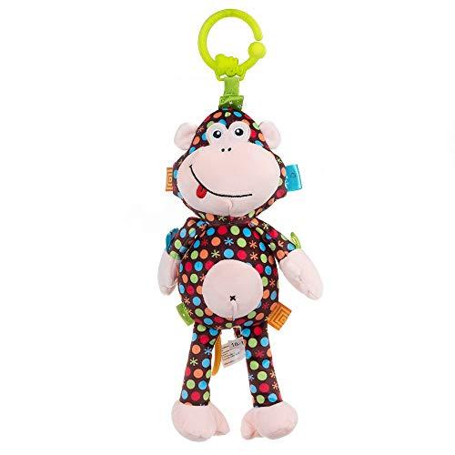 Balibazoo 89403 Monkey Martha, Die Spieluhr, Musikspielzeug , Spielzeug für Babys, sensorisches Spielzeug, sicheres Plüschtier, Babyfreund, sicheres Spielzeug Ab 0+ Monate